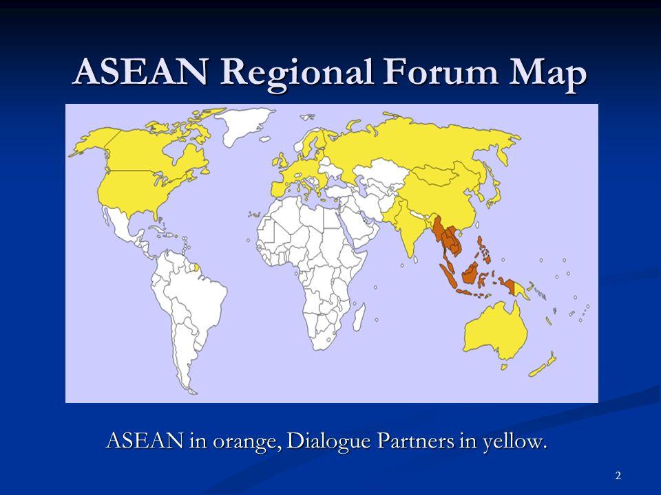 ASEAN Regional Forum Map