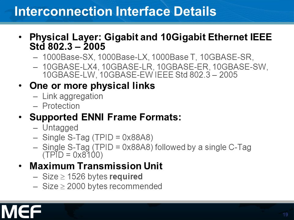 Interconnection Interface Details