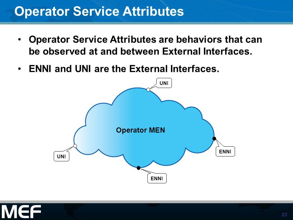 Operator Service Attributes