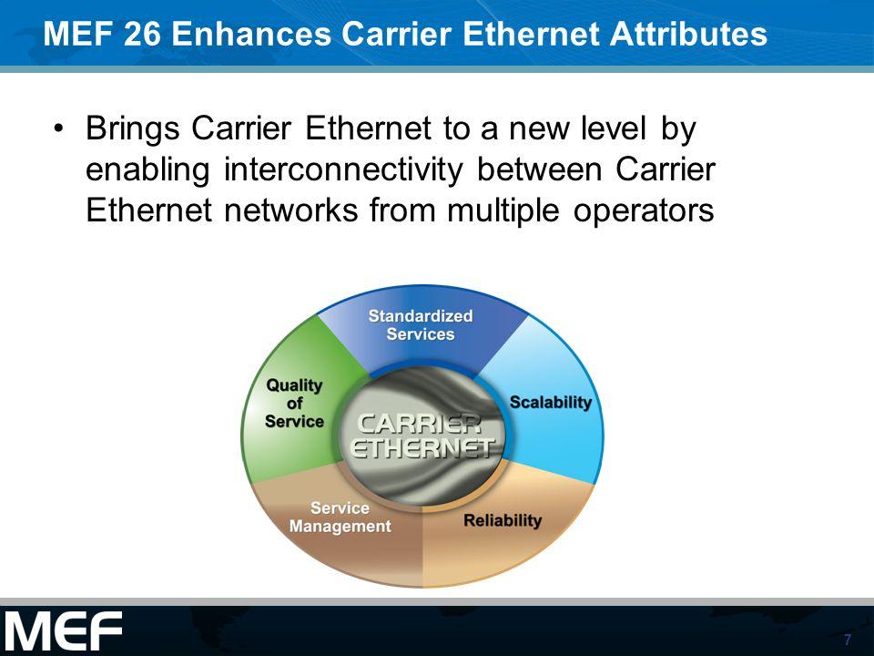 MEF 26 Enhances Carrier Ethernet Attributes