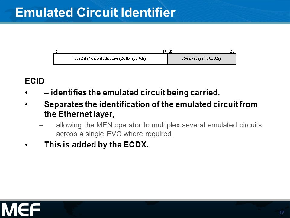 Emulated Circuit Identifier