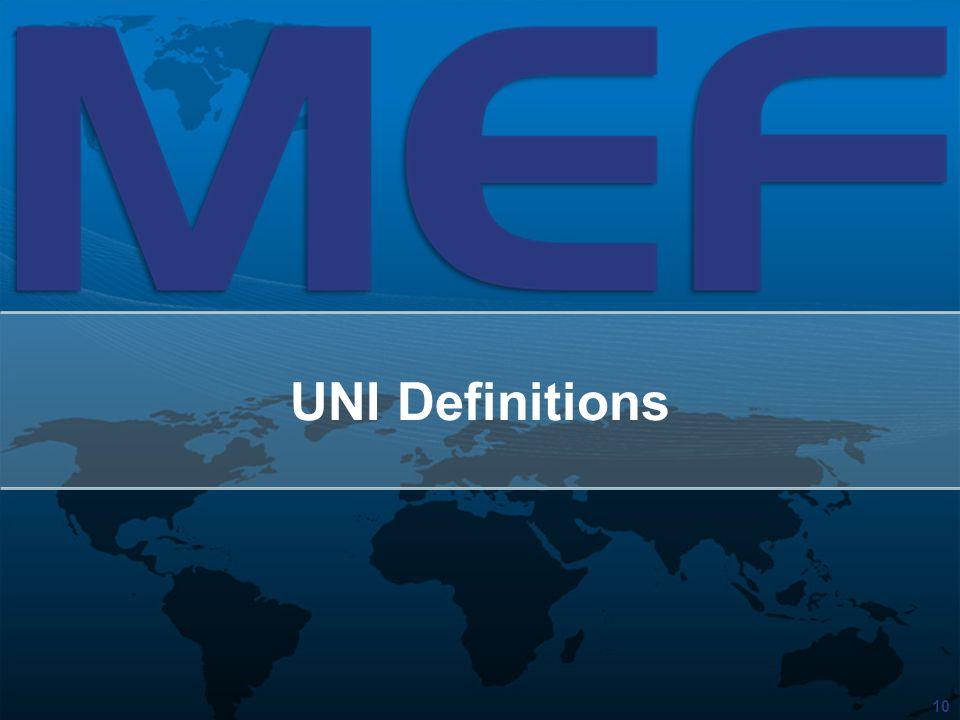 UNI Definitions