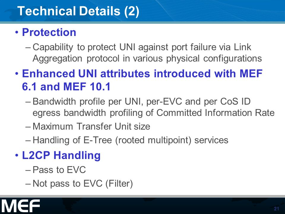 Technical Details (2) Protection