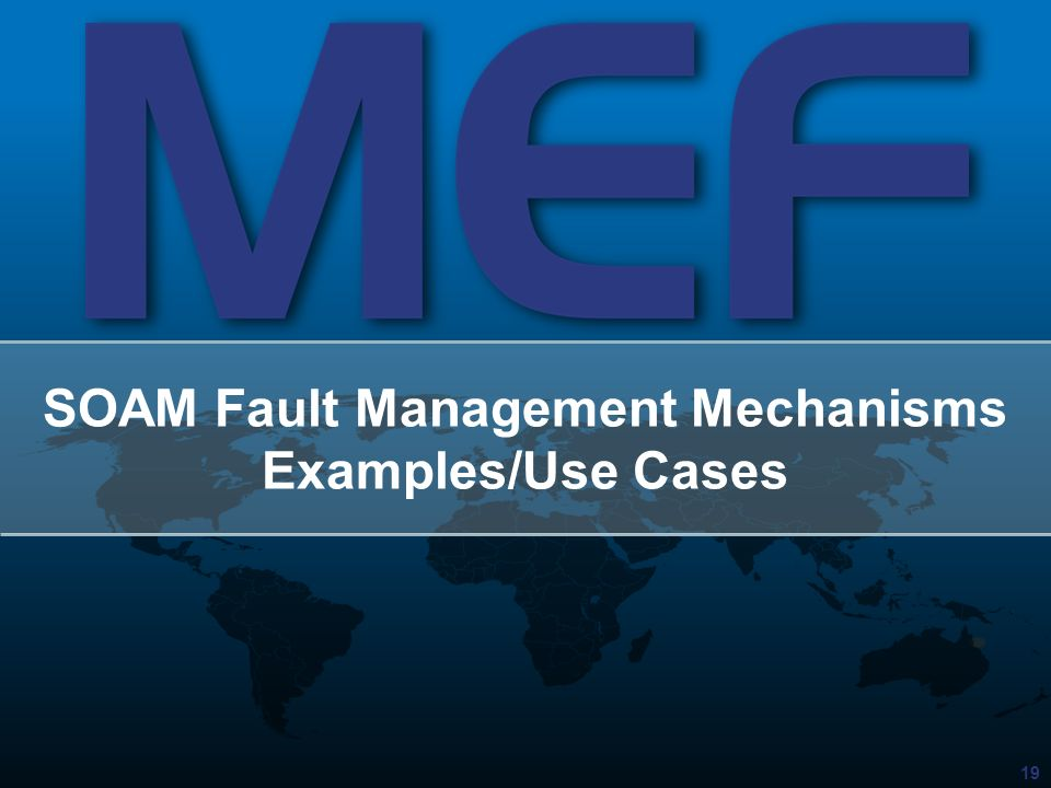 SOAM Fault Management Mechanisms