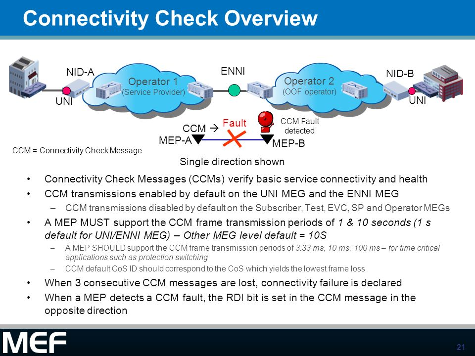 Connectivity Check Overview