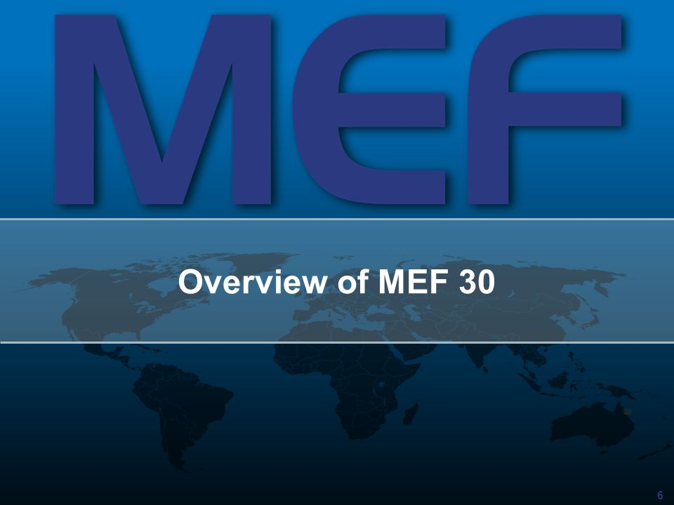 Overview of MEF 30