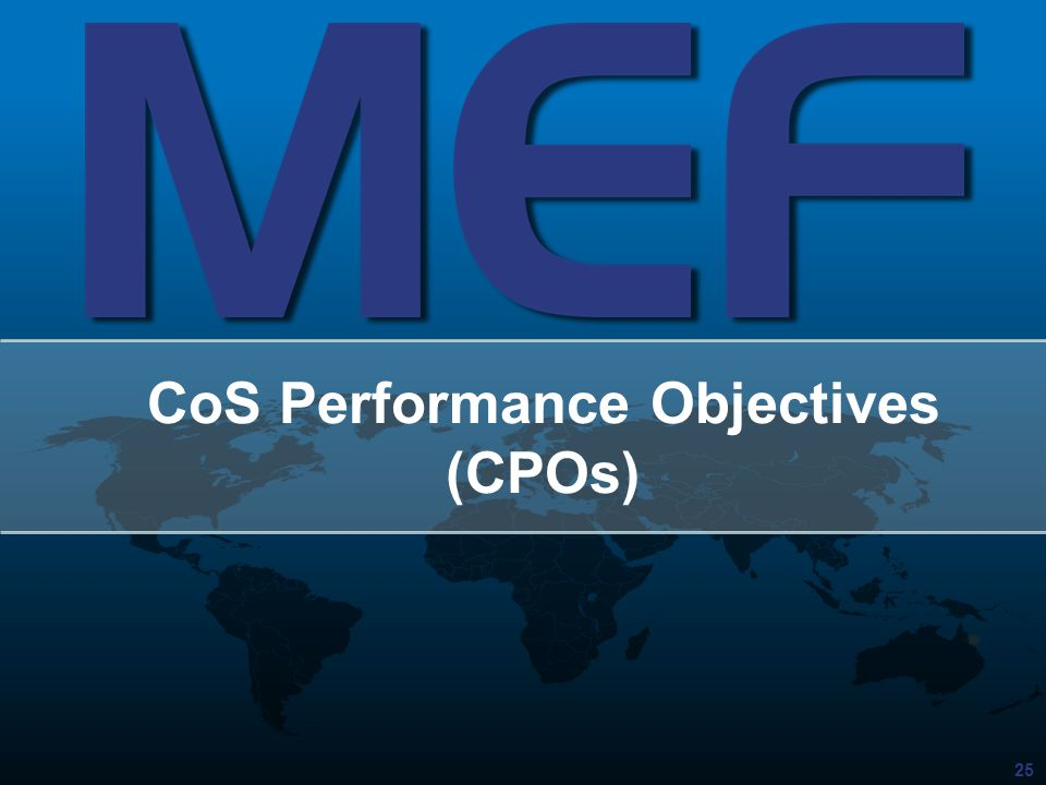 CoS Performance Objectives (CPOs)