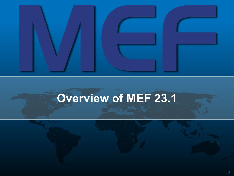 Overview of MEF 23.1