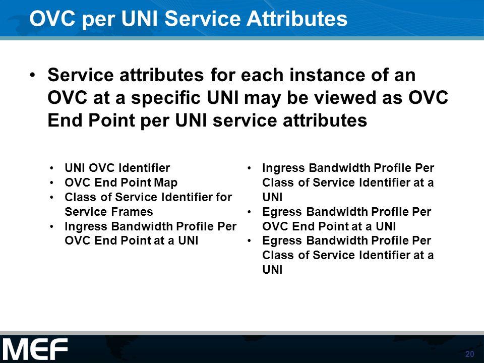 OVC per UNI Service Attributes