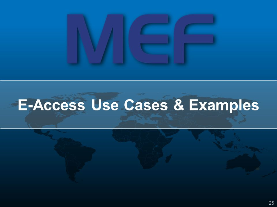 E-Access Use Cases & Examples