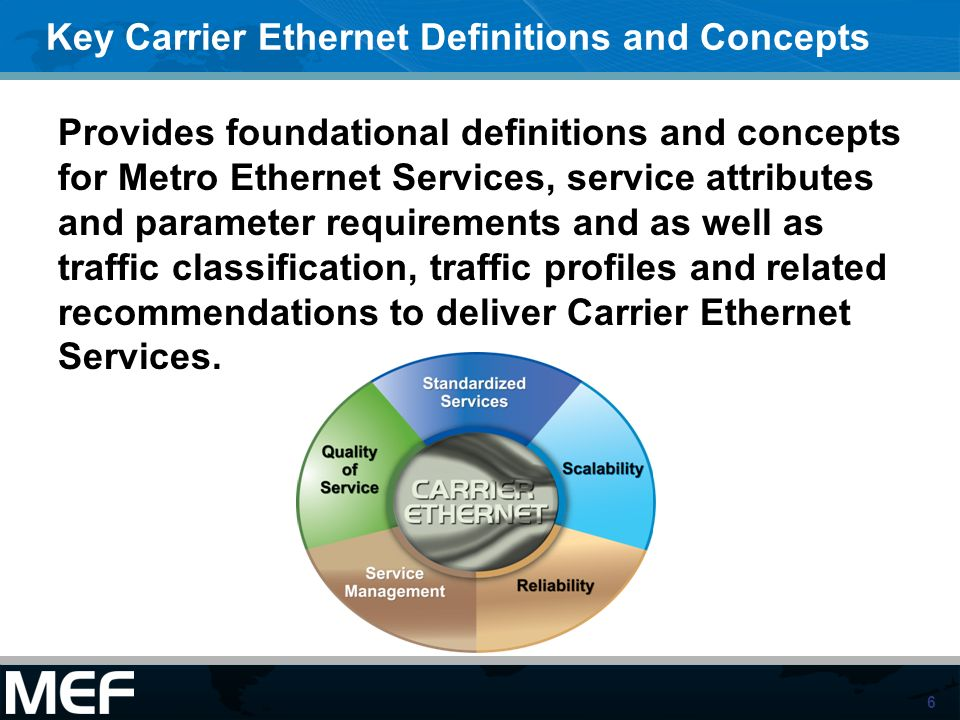 Key Carrier Ethernet Definitions and Concepts
