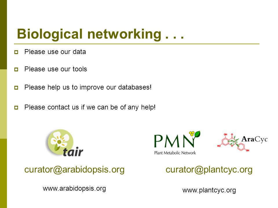 Biological networking . . .