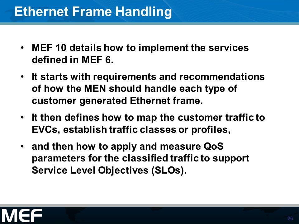 Ethernet Frame Handling