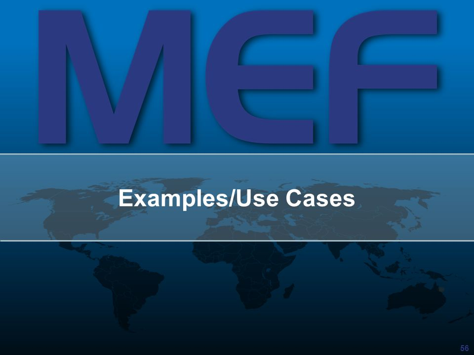 Examples/Use Cases