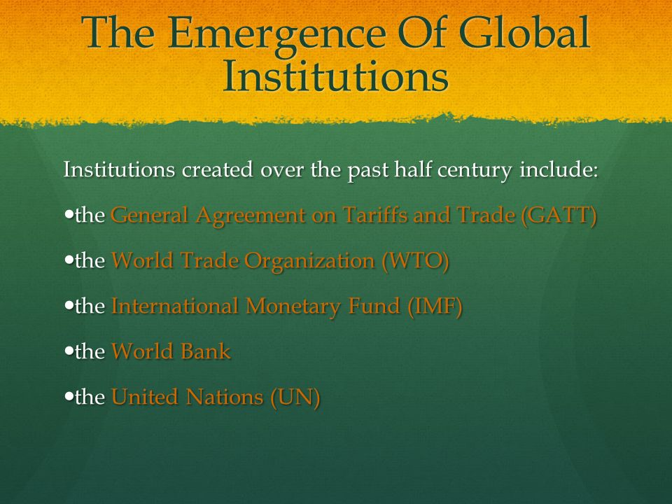 emergence of global political economy States affected by the emergence of the wto as a governance institution  for a  more equitable global political economy in which governance.