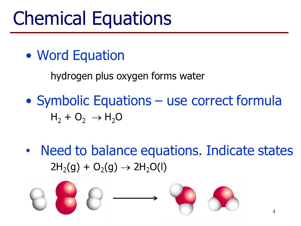 how to write chemical equations in word