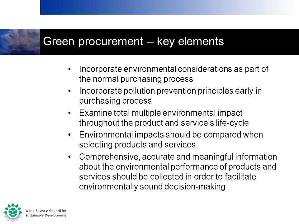 Green procurement – key elements