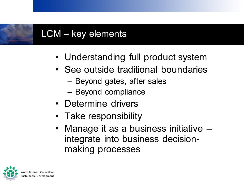 Understanding full product system See outside traditional boundaries
