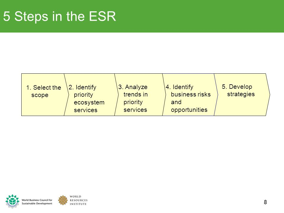 5 Steps in the ESR 1. Select the scope
