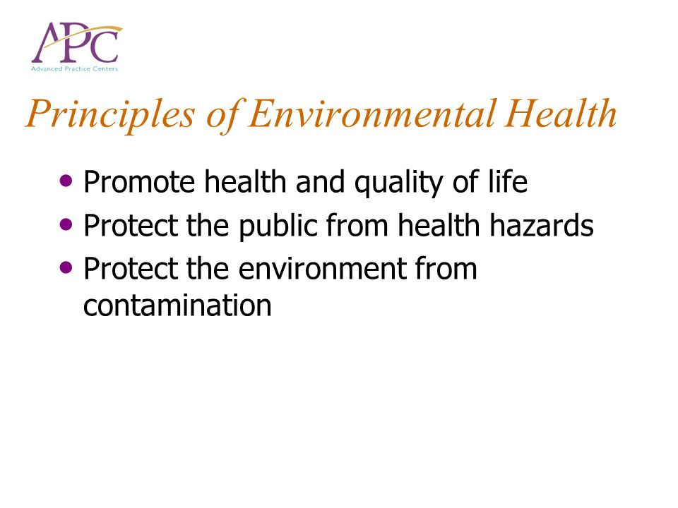 Principles of Environmental Health