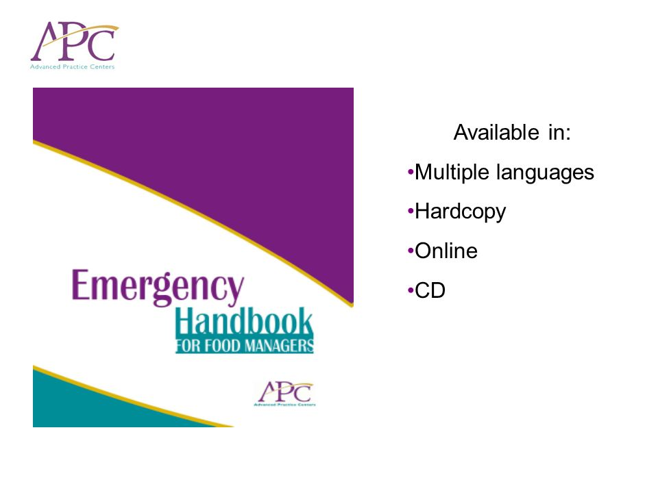 Available in: Multiple languages Hardcopy Online CD