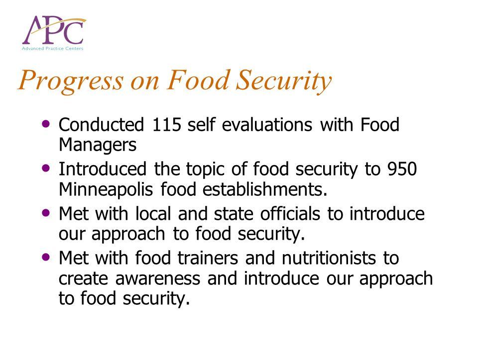 Progress on Food Security