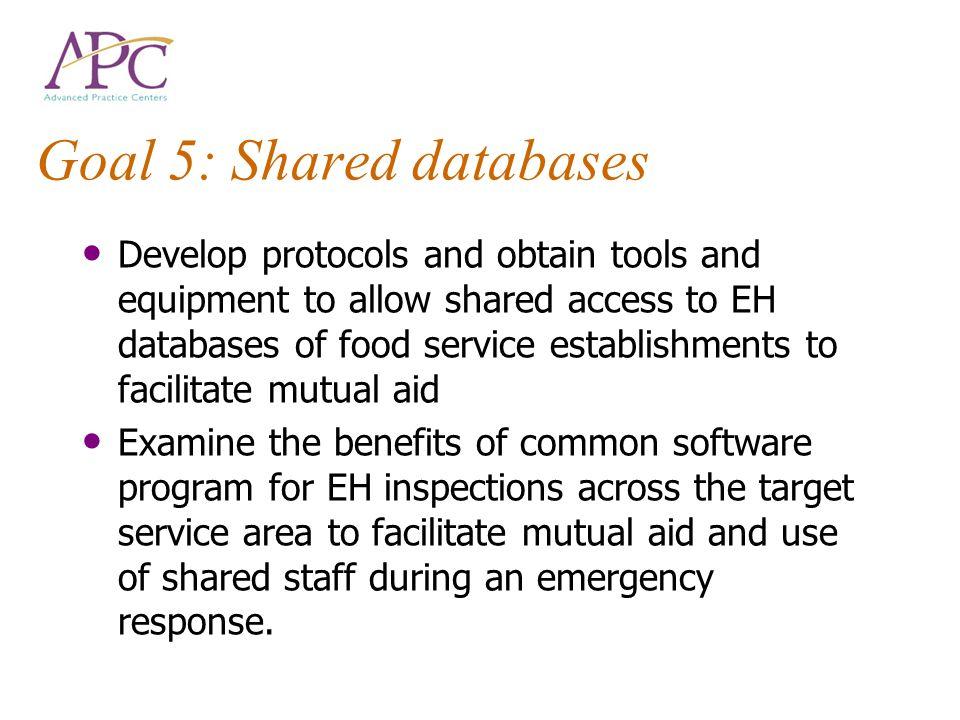 Goal 5: Shared databases