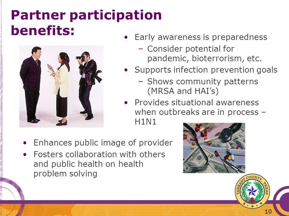 Partner participation benefits: