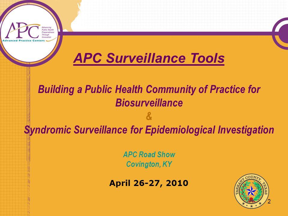 APC Surveillance Tools