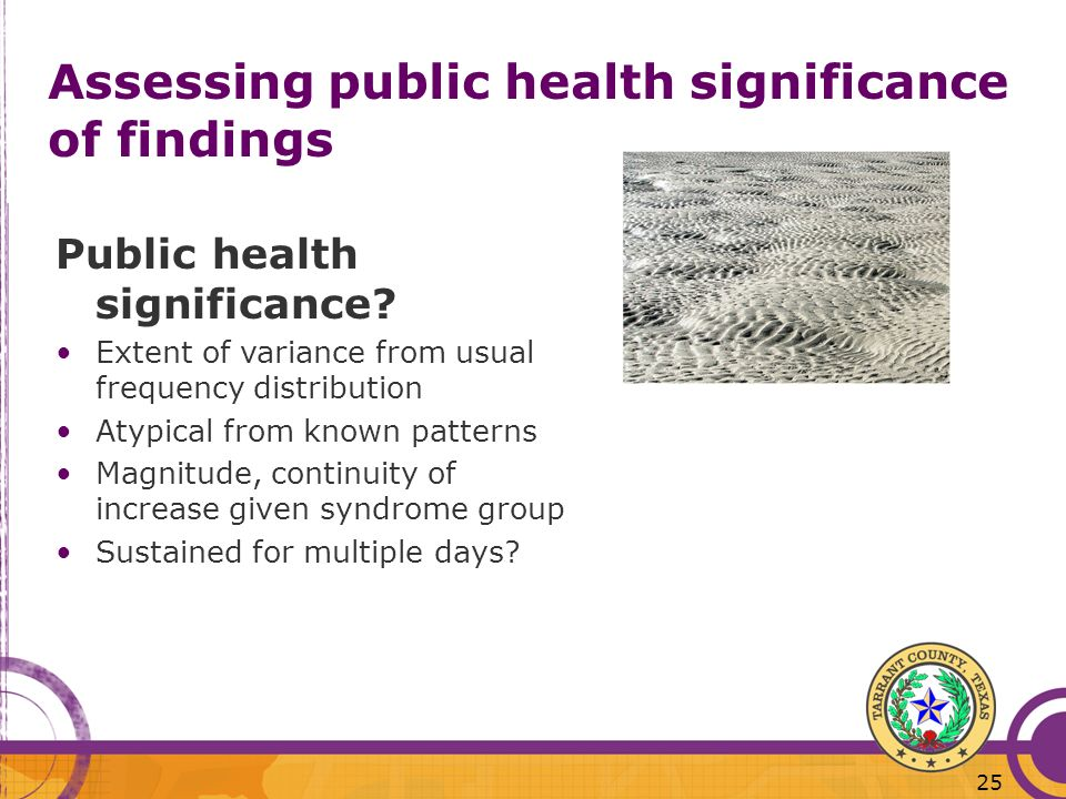 Assessing public health significance of findings