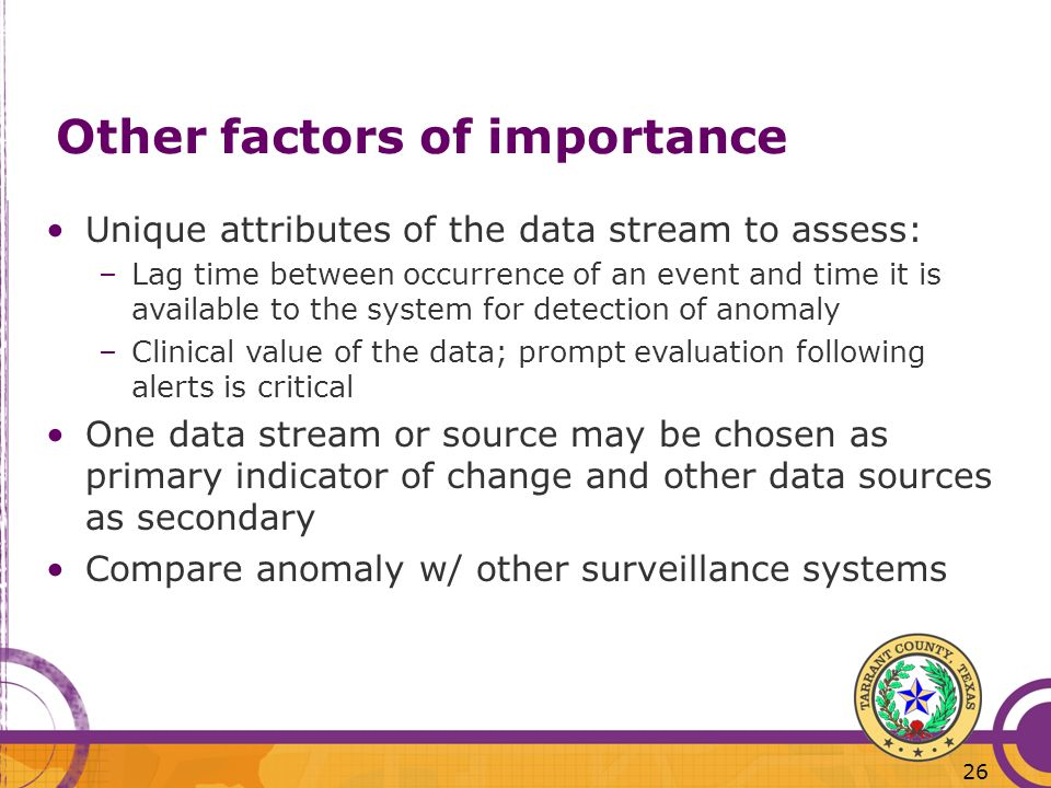 Other factors of importance