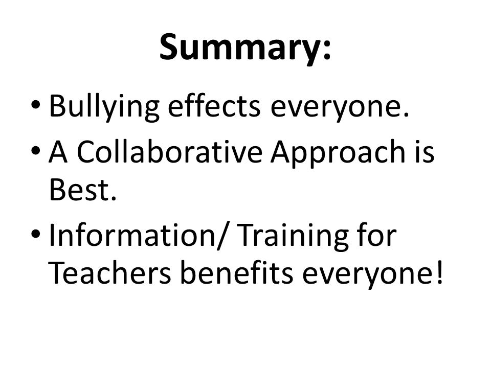 Collaborative Teaching Benefits ~ Improving anti bullying training for teachers ppt video