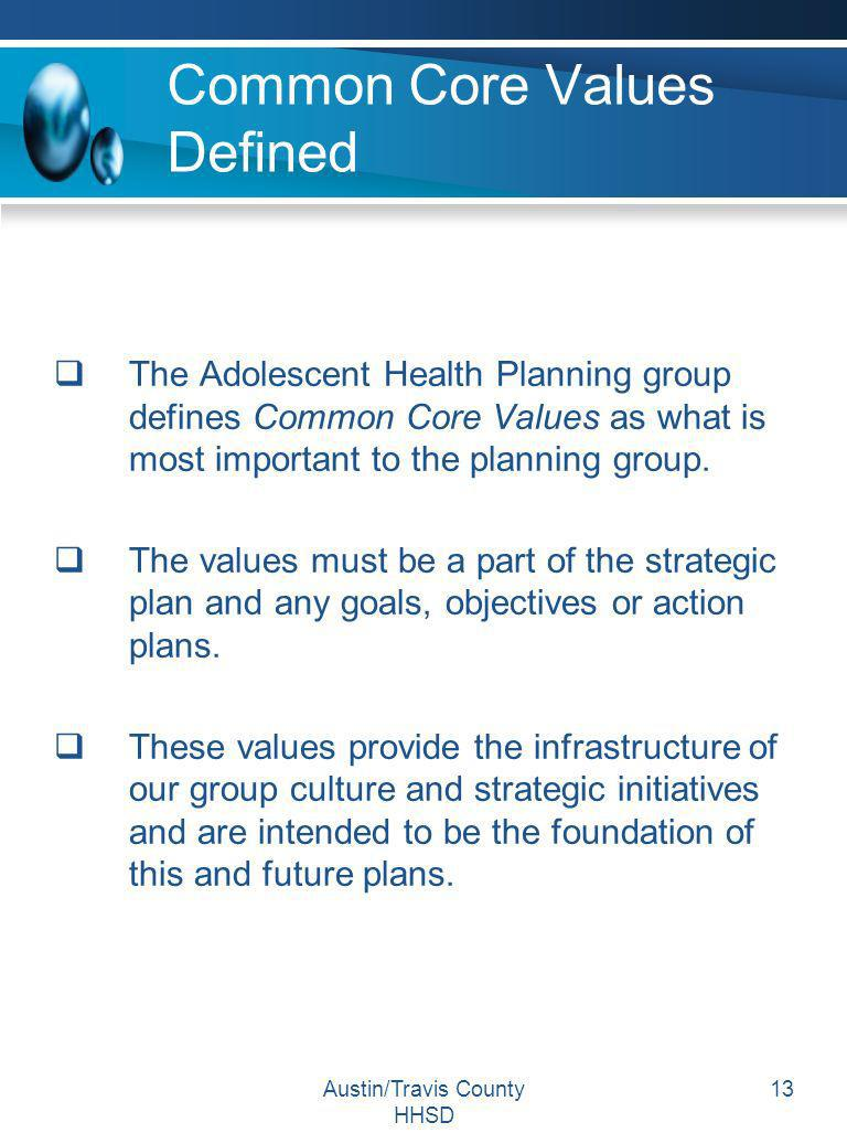 Common Core Values Defined
