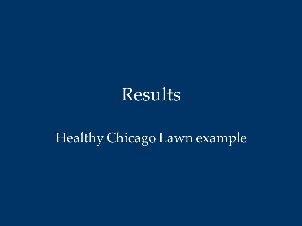 Healthy Chicago Lawn example