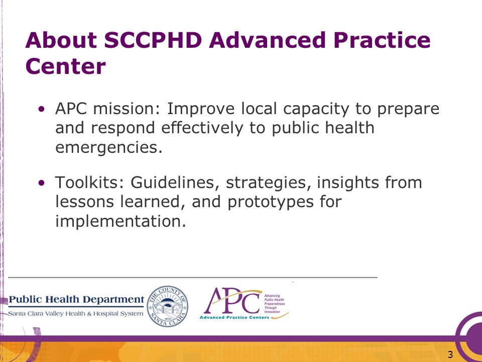 About SCCPHD Advanced Practice Center