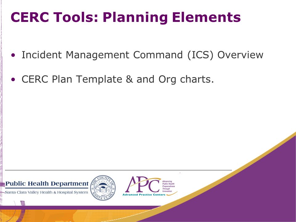 CERC Tools: Planning Elements