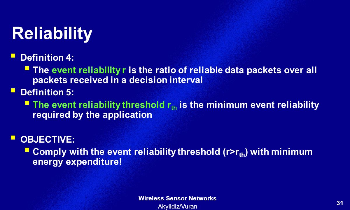 Reliability Definition 4: