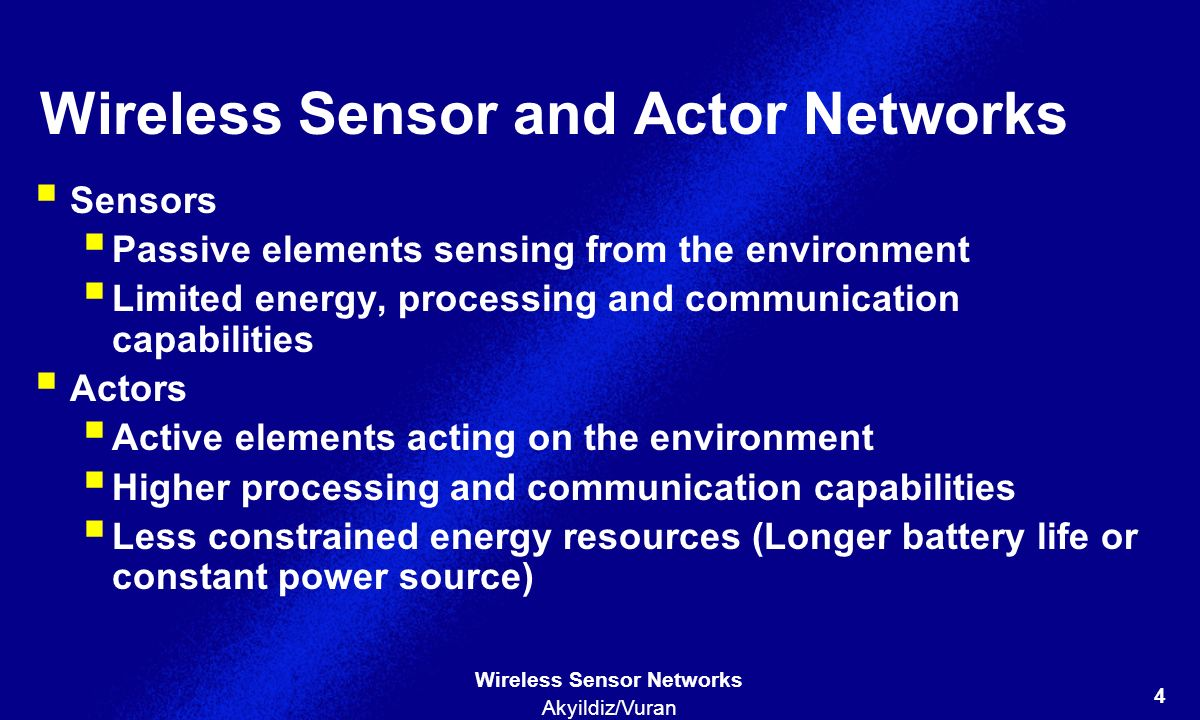 Wireless Sensor and Actor Networks
