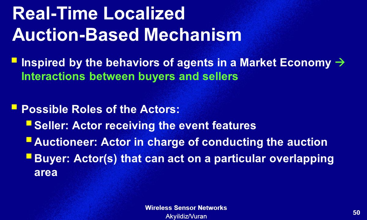 Real-Time Localized Auction-Based Mechanism