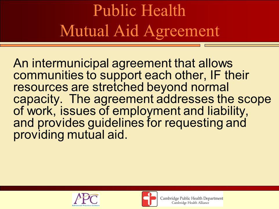 Public Health Mutual Aid Agreement