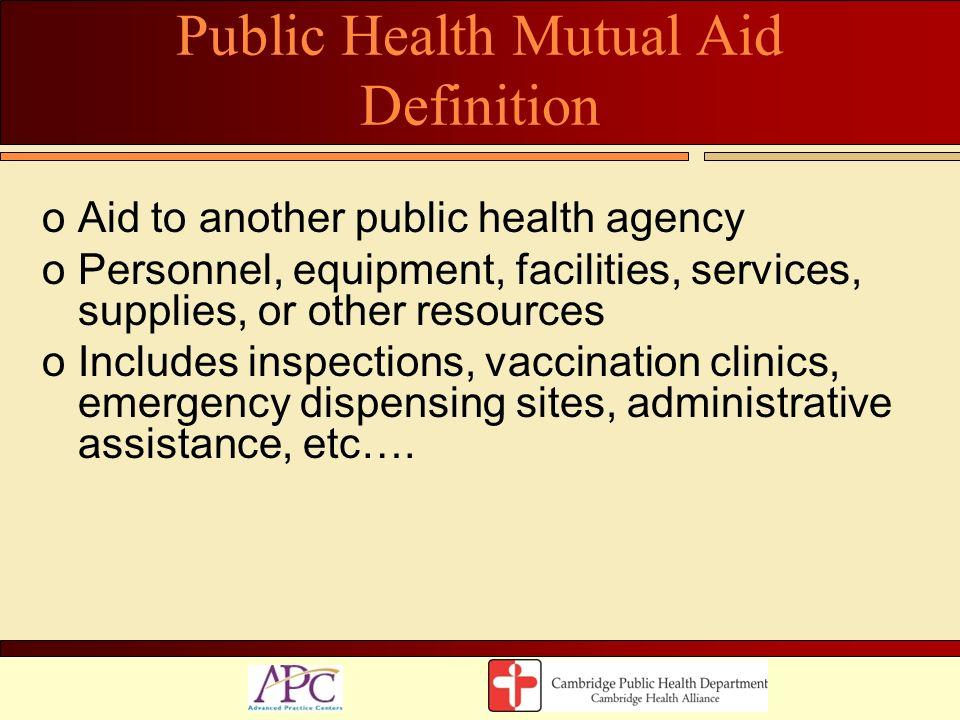 Public Health Mutual Aid Definition