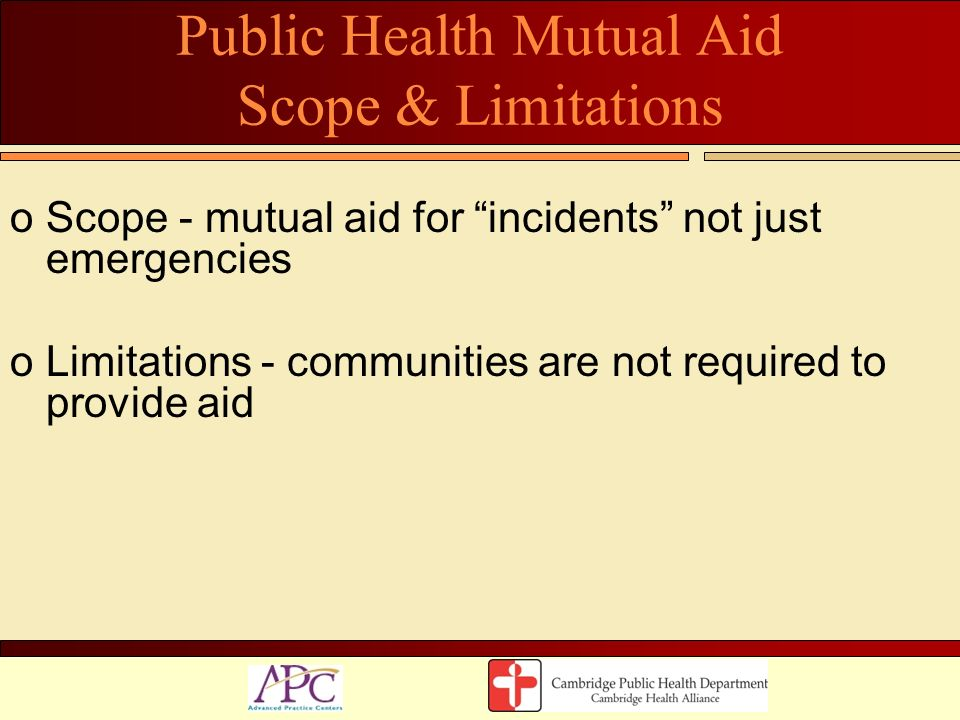 Public Health Mutual Aid Scope & Limitations