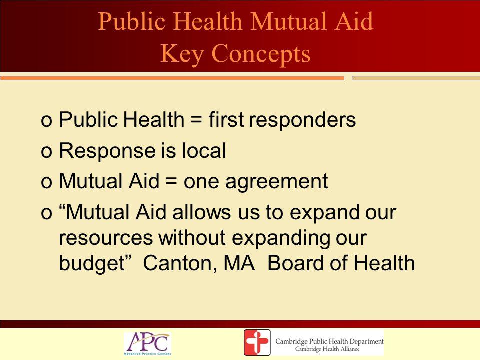 Public Health Mutual Aid Key Concepts