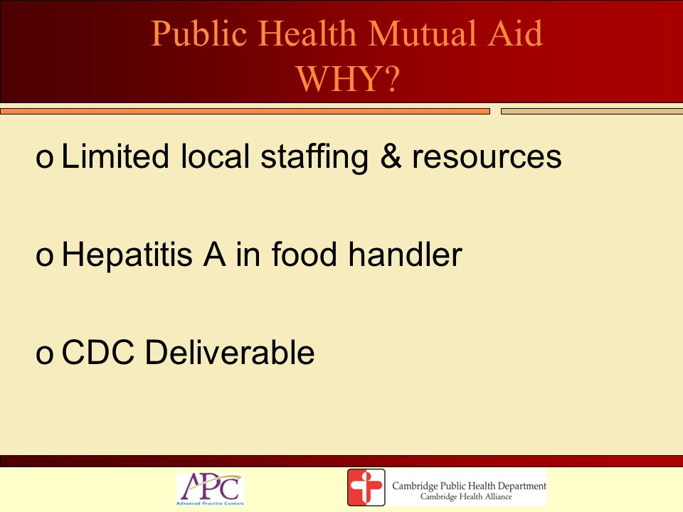 Public Health Mutual Aid WHY