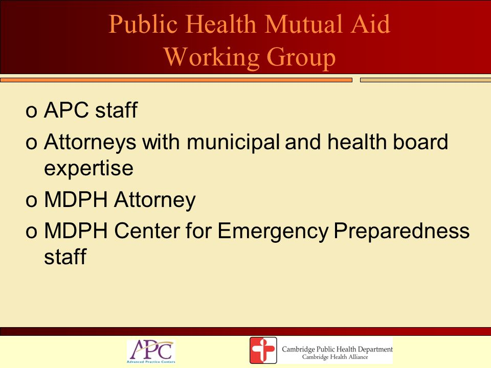 Public Health Mutual Aid Working Group