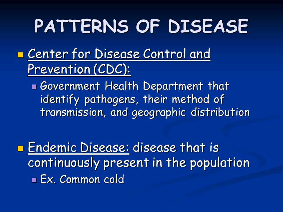 Eradication of infectious diseases