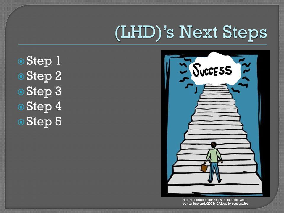 (LHD)'s Next Steps Step 1 Step 2 Step 3 Step 4 Step 5
