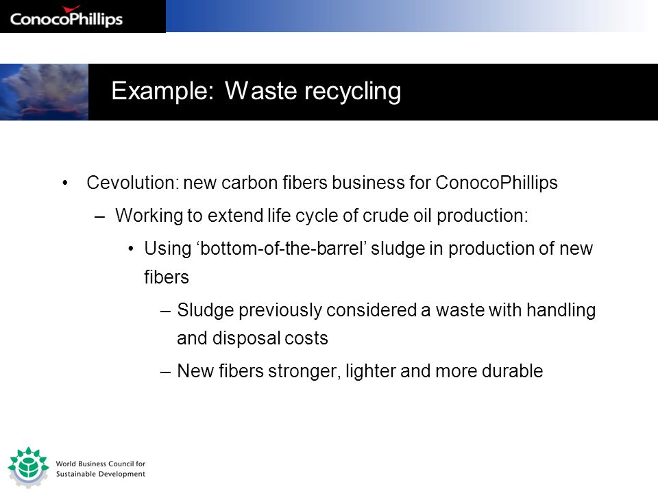 Example: Waste recycling