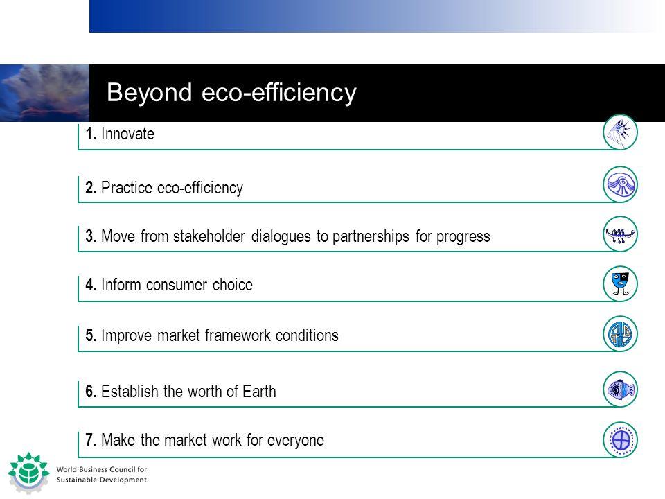 Beyond eco-efficiency