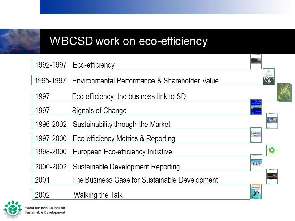 WBCSD work on eco-efficiency